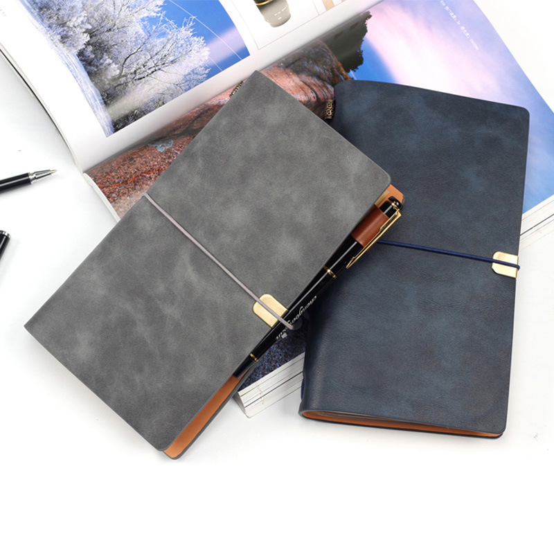 A6 Pocket Journal Notebook Retro PU Leather Planner Spiral Diary DIY Business Office Padfolio(China)
