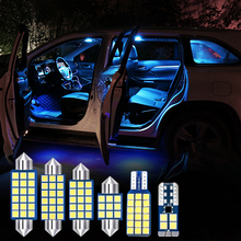 For Cadillac CTS 2011 2012 7pcs Error Free 12v LED Bulbs Car Interior Light Kit Dome Reading Lamps Trunk Foot Lights Accessories