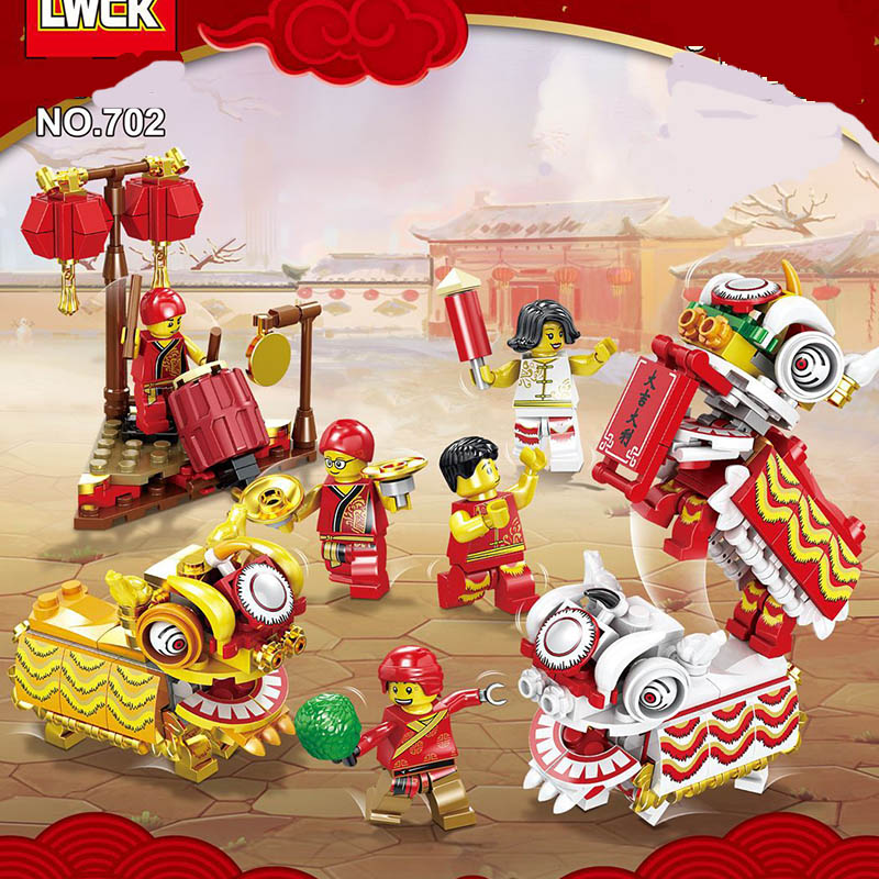 New Sale Compatible LegoINGlys City Live Chinese Style Scene Happy New Year Figures  Building Blocks Bricks Dolls Toys Baby Gift
