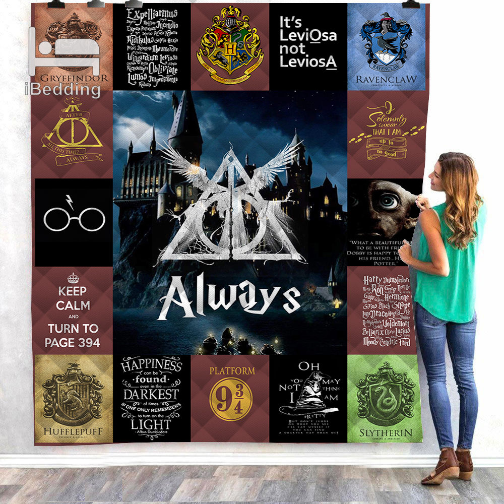 Hot Movie Harry Customize Printed Quilt Blanket Twin Full/queen King Size Dropshipping