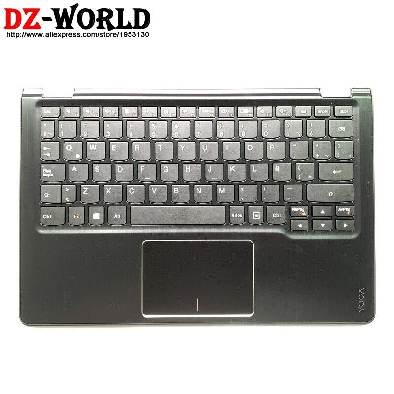Новый оригинальный черный верхний чехол с подставкой для рук, с сенсорной панелью для латинской клавиатуры, для lenovo Yoga 700-11ISK Yoga 3-1170 C, чехол