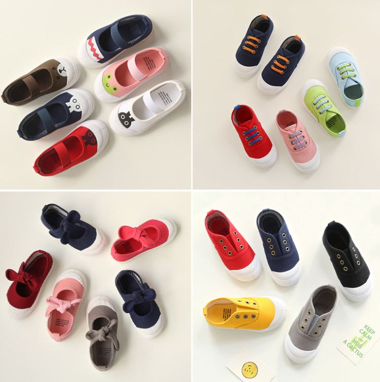 New Spring Fall Children's Shoes Toddler Casual Shoes Kids Canvas Shoes Baby Indoor Shoes