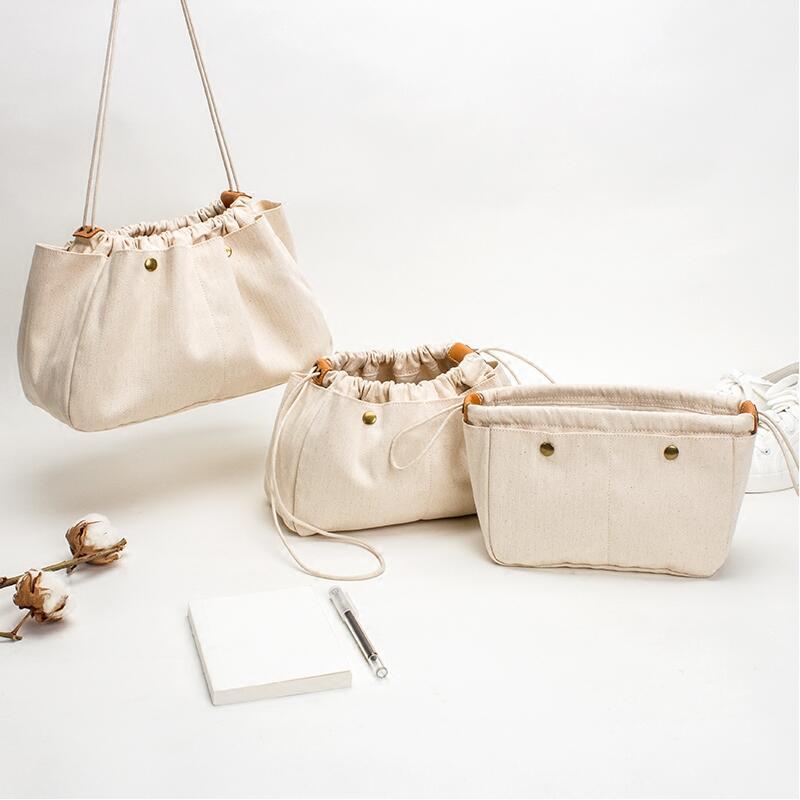 Купить с кэшбэком Soft Canvas Handbag Organizers, Sturdy Purse Insert Organizer Bag, 3 Sizes
