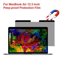 Privacy Screen Protector For Macbook Air 13.3 Laptop Screen Protector Cover Magnetic Anti-Glare HD Screen Protective Film Cover 14 inch 310mm 174mm privacy filter for 16 9 laptop notebook anti glare screen protector protective film
