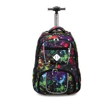 Mochilas escolares con ruedas de 18 pulgadas para niños, mochilas escolares para niños, mochilas con carro con ruedas, mochilas para adolescentes