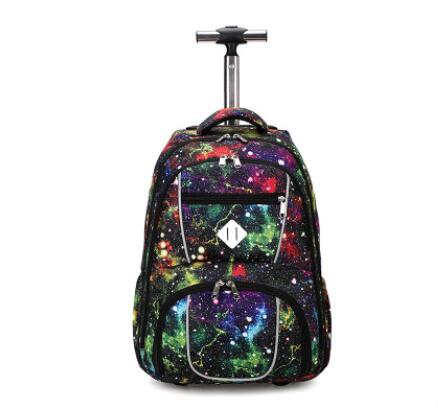School Rolling Backpacks 18 Inch Children  Wheeled Backpack Kids School Backpack On Wheels Trolley Backpacks Bags For Teenagers
