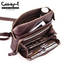 كوبلر أسطورة المرأة حقيبة متعددة جيوب وبطاقة عادية Crossbody جلد طبيعي الكتف البريدي حقيبة مصمم خمر حقائب سيدات