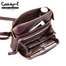 Szewc legenda kobiet torba wiele kieszeni i karty dorywczo Crossbody prawdziwej skóry torba na ramię Zip projektant Vintage damskie torebki