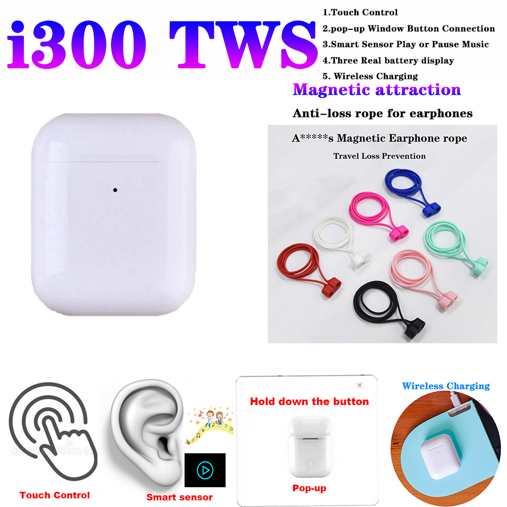 Original i300 TWS 1 1 Bluetooth 5 0 Wireless 6D heavy bass earphone PK i10 i12 i20 i30 i60 i80 i100 i1000 i2000 i800 i500 tws in Bluetooth Earphones Headphones from Consumer Electronics