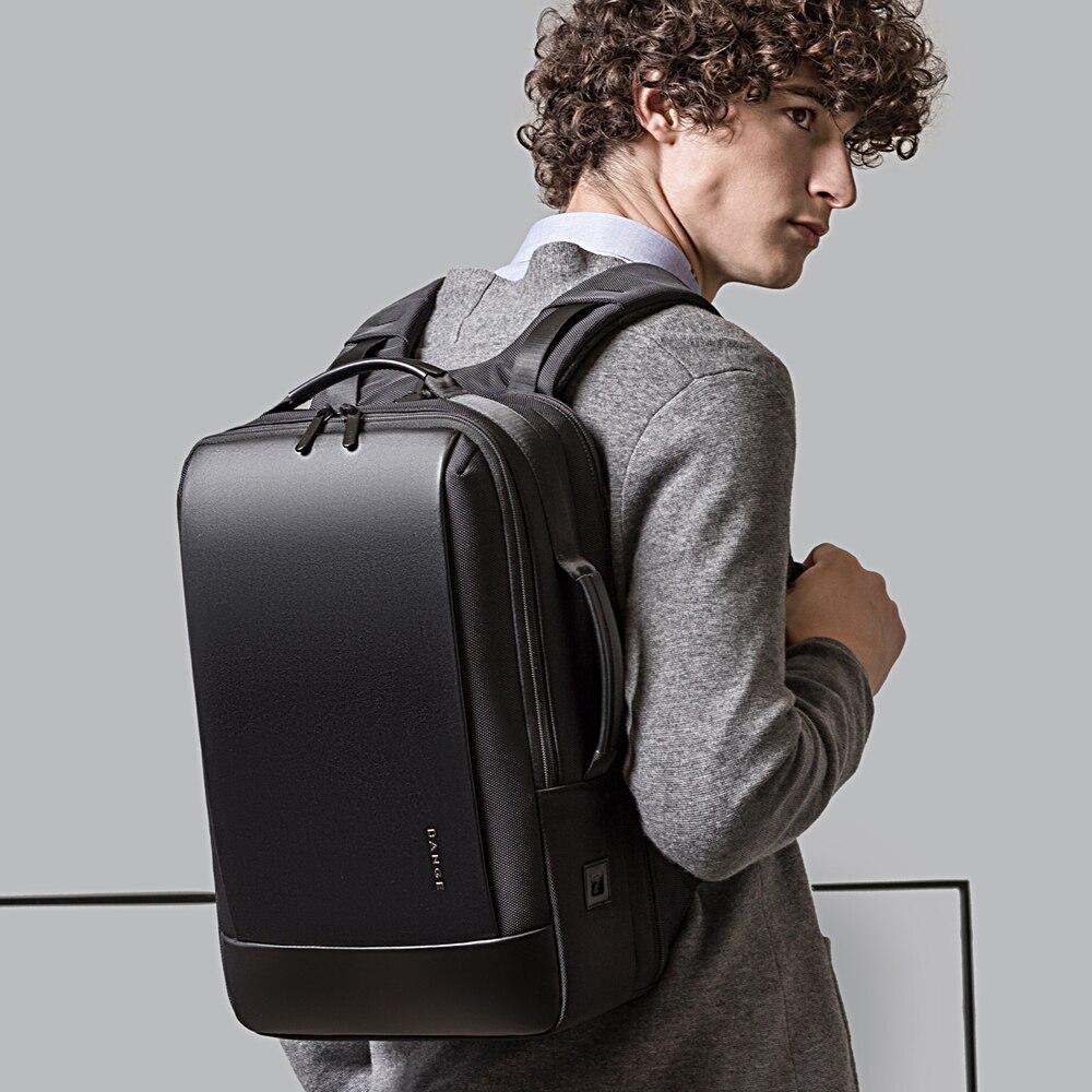 BANGE Laptop Backpack Men 15.6 inch Office Work Men Backpack Business Bag Unisex Black Multifunction Backpack Travel Backpack