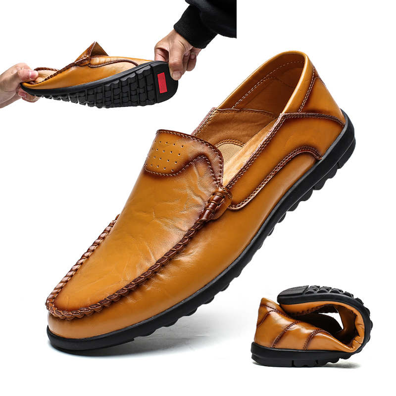 Men Loafers Party Shoes Luxury Loafers Leather Moccasin Wedding Slip On Shoes Flat Driving Boat Shoes Male Gommino Zapatos