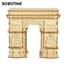 Robotime 118pcs DIY 3D Arc de Triomphe Wooden Puzzle Game Popular Toy Gift for Children