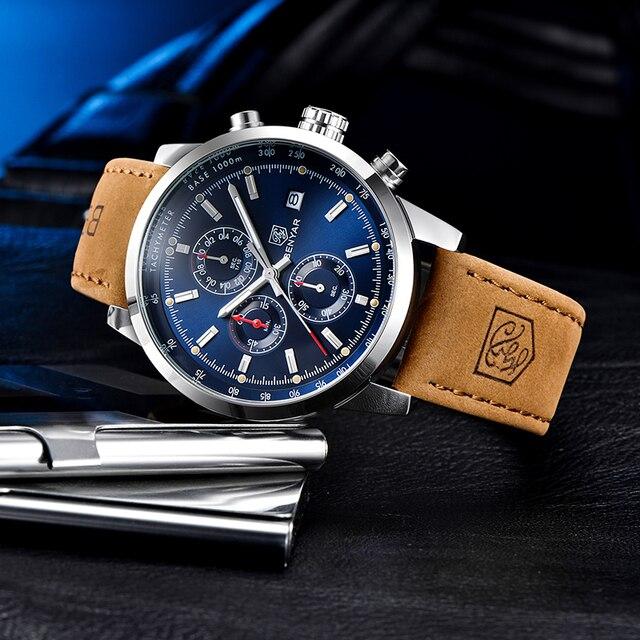 BENYAR 2020 New quartz men's watches Multifunction sport Wristwatch mens top brand luxury watch men military watch Reloj hombres