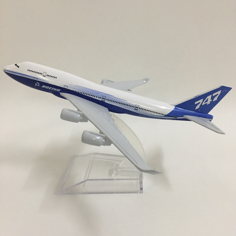 JASON TUTU 16cm Model Plane Model Airplane Original Boeing 787 Boeing 747 Aircraft Model 1:400 Diecast Metal Airplanes Plane Toy