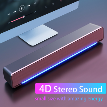 Bass Speaker USB Wired Powerful Computer Speaker Bar Stereo Subwoofer  Surround Sound Box For PC Laptop Phone Tablet MP3 MP4 edifier e25hd heavy bass multimedia speaker with enhanced sound for laptop pc computer system 3d stereo music mini speaker