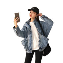 2019 Autumn Loose Leisure Vintage Pocket Cowboy Coat Jaket Women Jacket Befree Chaqueta Mujer Riverdale Plus Size Bts Jackets(China)