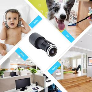 Image 3 - TF כרטיס WIFI אודיו דלת עיניים חור בית 1080P 1.78mm רחב זווית FishEye עדשה רשת מיני עינית wifi דלת IP מצלמה P2P icsee