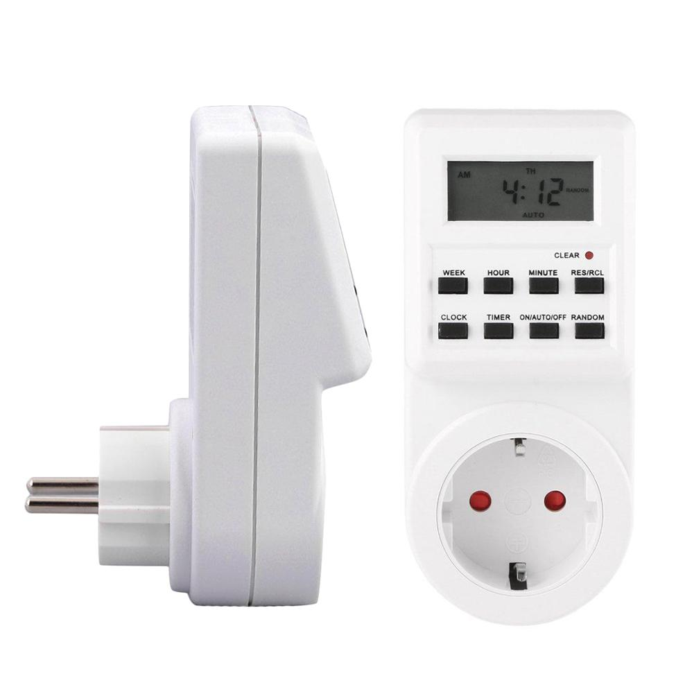 Plug-in Programmable Timer Switch Socket With Clock Summer Random Function UL