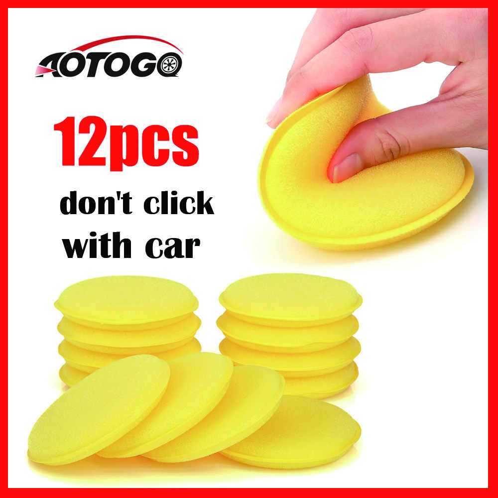 12 pcs sponges car wash detailing Wax Polish Foam Sponge For Car Body Glass Wash Cleaning Car Care Clean Kits Tools Accessories