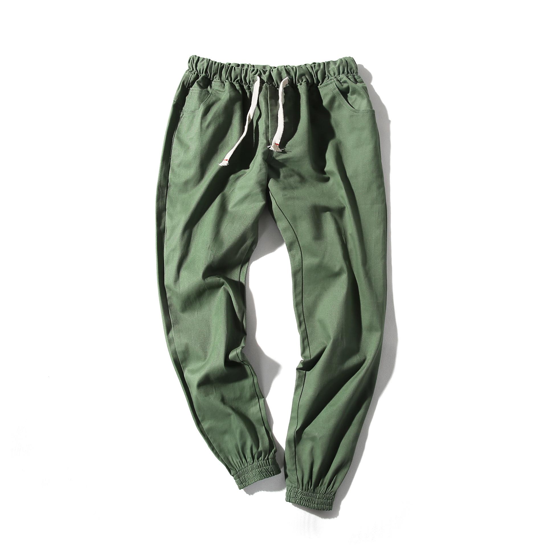 MEN'S WEAR Korean-style Hot Selling Casual Pants Men Harem Solid Color Sports Ninth Pants Large Size 5XL Customizable