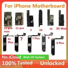 لوحة أم لهاتف iPhone XS XR XS MAX 11 PRO 11 Pro Max لوحة منطقية لهاتف 7/7 Plus /8/8 Plus لوحة رئيسية بنظام IOS لوحة رئيسية مفتوحة