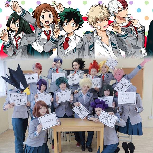 My Hero Academia Izuku Shoto School Student Uniform Costume For Cosplay Party