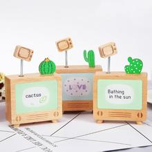 2019 New Music Box TV Model Cactus Automatic Play Music Box Birthday Gift Clockwork Music Box Wooden Ornaments