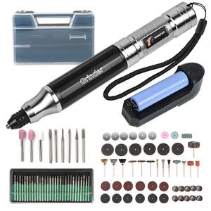 Image 2 - TUNGTULL matkap akülü matkap şarj edilebilir lityum oyma kalem Mini elektrikli cilalı delme makinesi kesme cilalı oyma