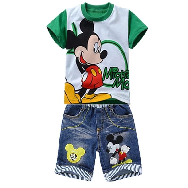 Girls Boy Minnie Mickey Mouse Pyjamas PJS Nightwear Summer T-shirt Tops /& Shorts
