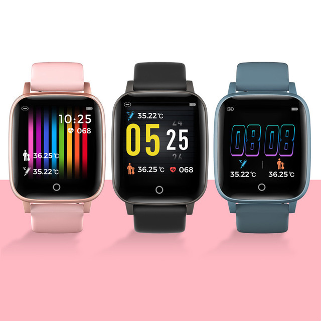 T1 Body Temperature Measure Smart Watches Men Women Heart Rate Blood Pressure Monitor Push Message Weather Forecast Smartwatch 6