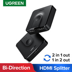 Ugreen HDMI Splitter 4K Bi-Direction HDMI Switch 1x2/2x1 Adapter for PS4/3 TV Box Projector HDMI Cable Switcher HDMI Splitter