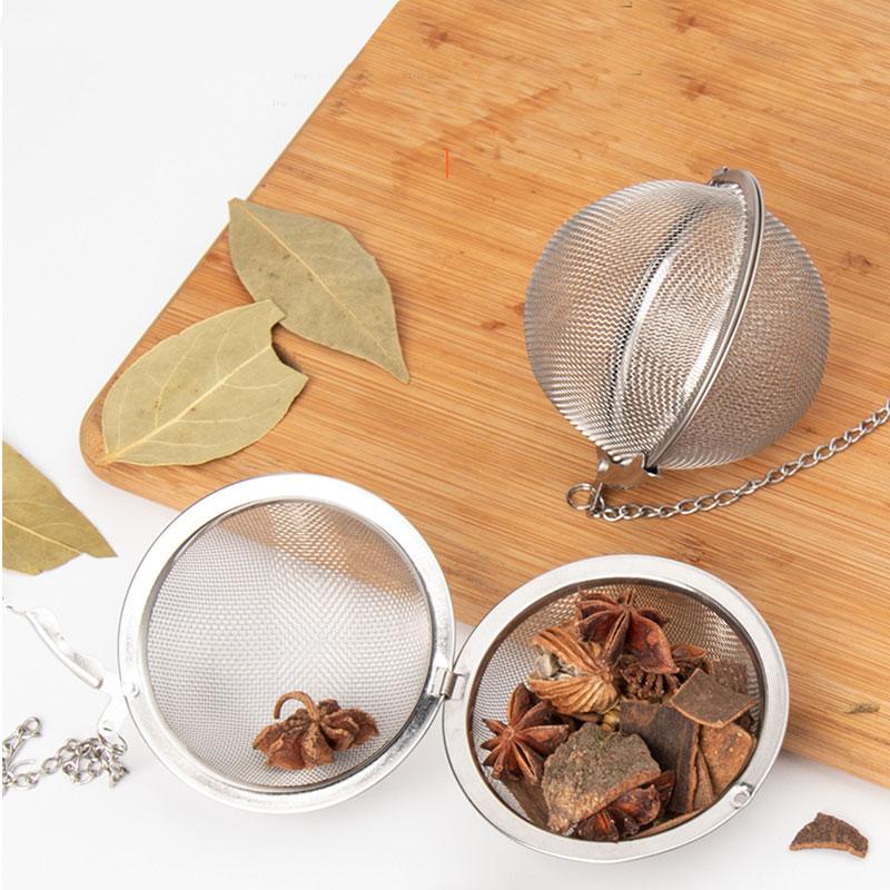 2PCS Mesh Ball Tea Infuser Stainless Steel Tea Strainer For Teapot Locking Spice Herbal Tea Filter Teapot Infusor Tools