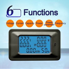 100A 22000W Voltage Current Voltmeter Ammeter Portable Multimeter Testing Voltage Digital Monitor Power Meter Premium vat 4300 dc 0 01 400v 0 1 300a multifunctional wireless digital bi directional voltage current power meter voltmeter vat 4300
