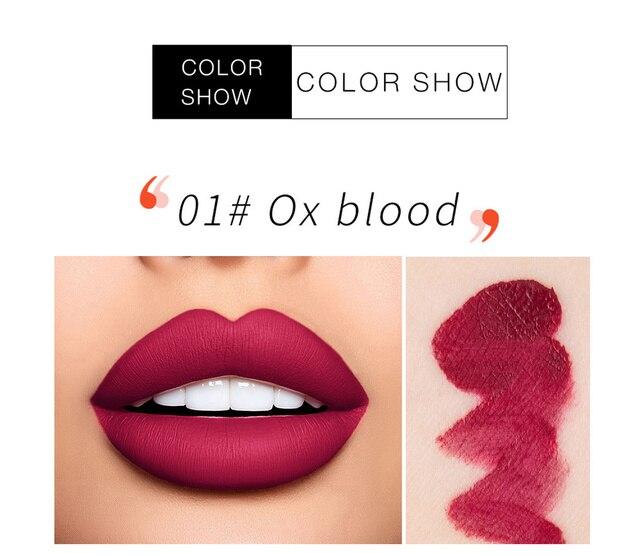 Brillo de labios líquido mate, brillo de labios líquido mate de larga duración, resistente al agua, cosmético de belleza, mantiene 24 horas de maquillaje, brillo de labios maquillaje TSLM1 4