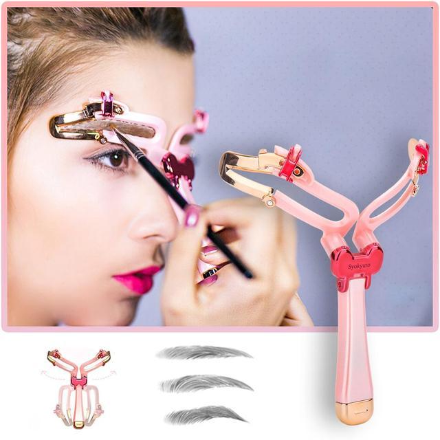 3 Colors Reusable Adjustable Makeup Eyebrow Stencils Professional Cosmetic Tools Eyebrow Drawing Shaper Template Eyebrows Card 2