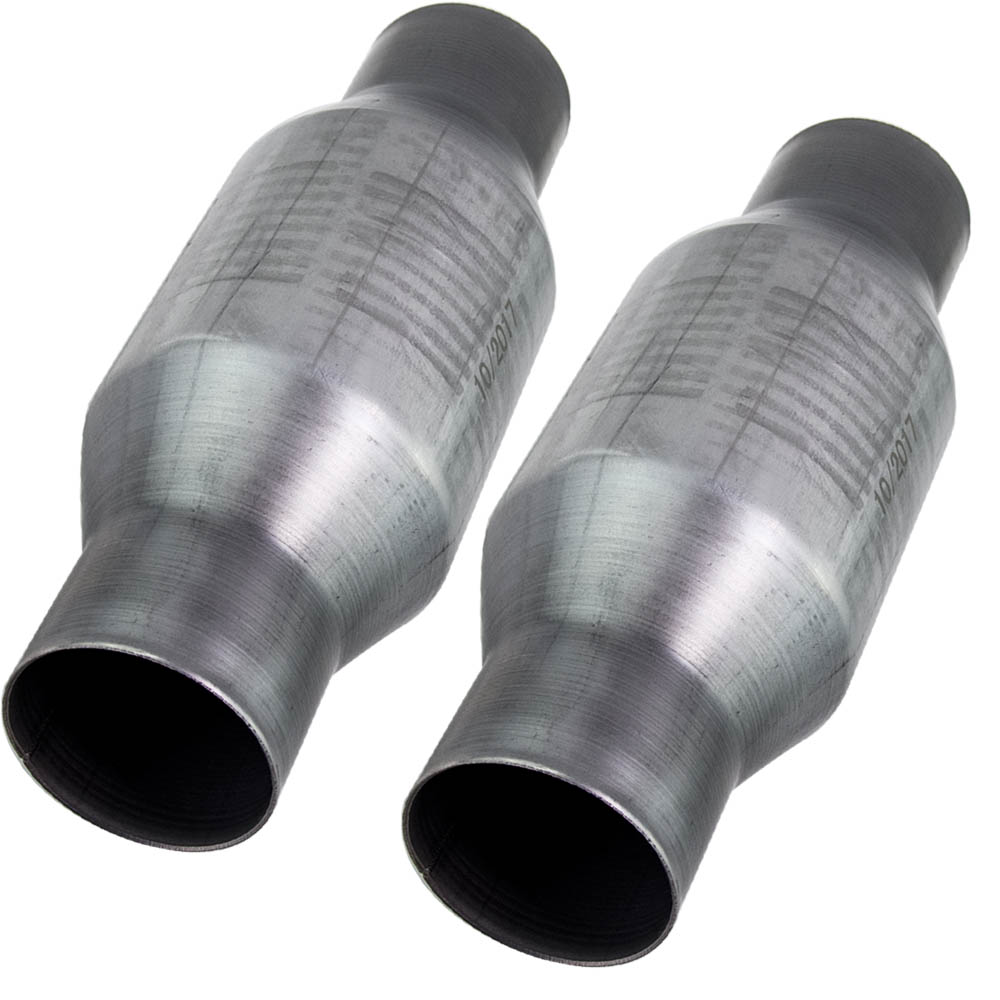 2pieces 2.5 inch for Volkswagen VW Polo High Flow Performance Catalytic Converter|Catalytic Converters| |  - title=