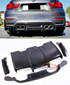 PAINTED PSM rear lip diffuser 4pcs set for F82 M4 F80 M3 2015UP B450F