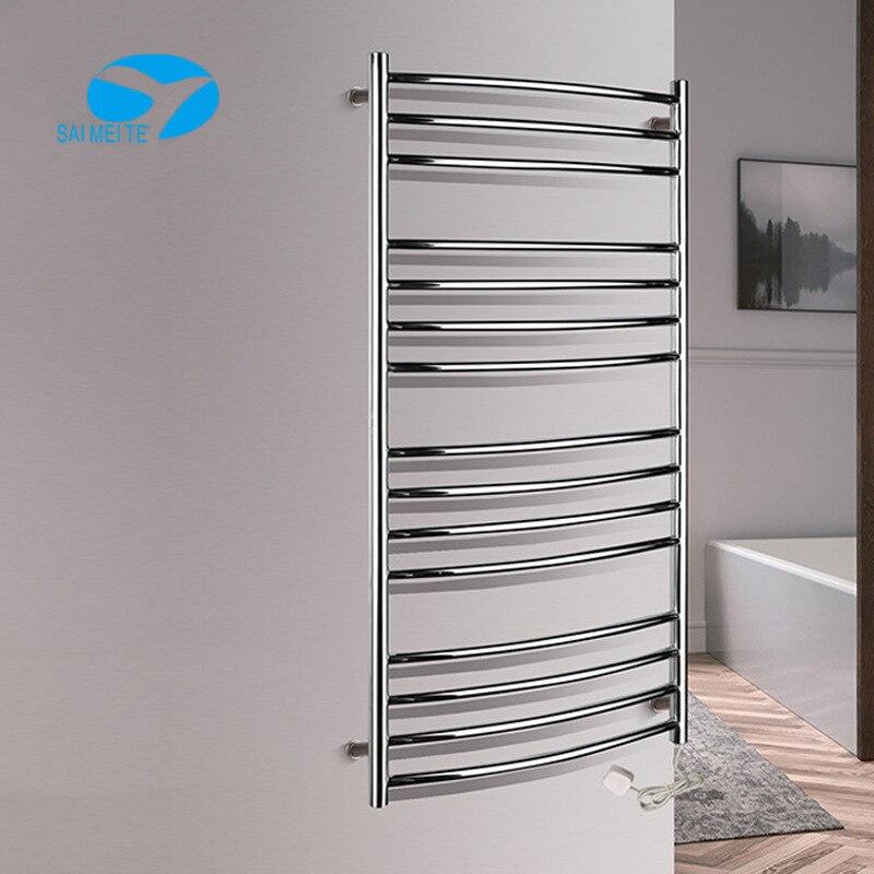 Electric Heated Towel Rail Sanitary Ware Drying Rack Stainless Steel Bathroom Towel Rack Storage Shelf 304 Pendant