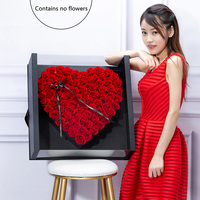 Valentine's Day rose heart shaped packaging gift box local tyrants holding flower box halloween christmas wedding decoration
