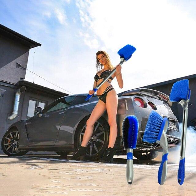 רב תפקודי רכב צמיג מברשת צמיג גלגל שפת רכזת מברשות אוטומטי מכונת כביסה רכב גוף משטח גלגל לשפשף מנקה כלי
