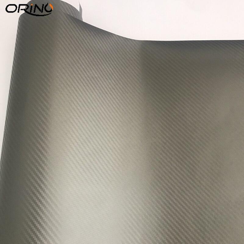 3D Carbon Fiber Grey Vinyl Wrap Sticker-3