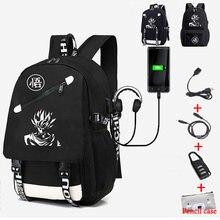 Школьные рюкзаки для студентов светящиеся черные сумки goku