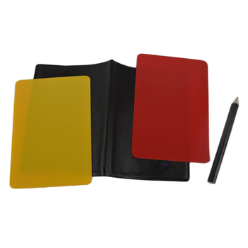 Football soccer Referee Cards Volleyball Football Sport Wallet Score Notebook Pencil Set Sales promotion Wholesale new brand image