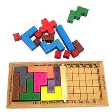 Inteligência 3d jogo de quebra-cabeça de madeira katamino tetris quebra-cabeça magia cérebro teaser aniversário natal presente de ano novo para crianças
