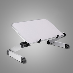 Image 5 - Aluminum Alloy Laptop Portable Foldable Adjustable Laptop Desk Computer Table Stand Tray Notebook Lap PC Folding Desk Table