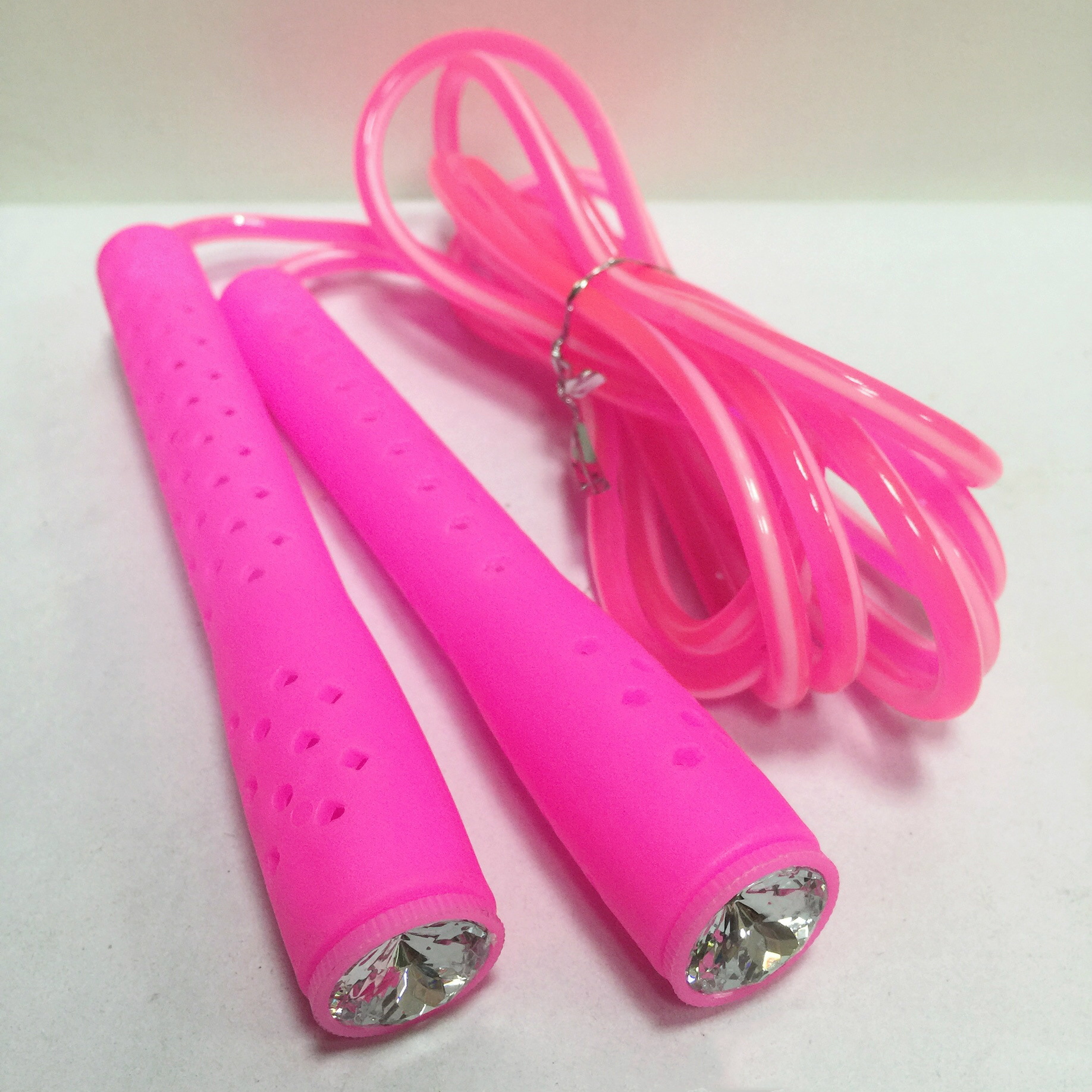 New-Style 6020 Rhinestone Double Color Children Adult's Skipping Rope Fitness Rope Students Sports Fitness Supplies