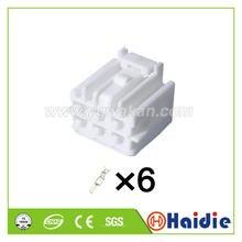 Frete grátis 2 conjuntos sumitomo 6pin ts series 4.8mm(187) plugue desselado elétrico de plástico fio de pressão conector 6098-1716