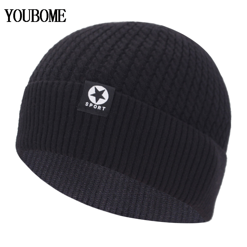 Fashion Winter Knitted Hat Men's Winter Beanie Women Winter Hats For Men Skullies Beanies Bonnet Brand Beany Male Beanie Hat Cap