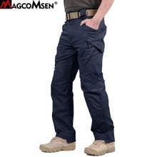 MAGCOMSEN-pantalon tactique pour hommes, urbain IX9, militaire, pantalon de Combat de l'armée, en coton à plusieurs poches, pantalon de travail Cargo, décontracté