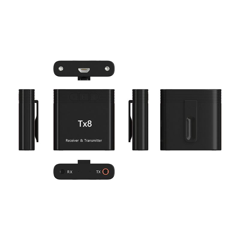 New TX8 2 In 1 Bluetooth 5.0 Transmitter Receiver Adapter For TV PC Headphone Accessories AXYF